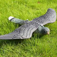 Garden Decoration Artificial Flying Hawk Fake Bird Hunting Decoy Scarer