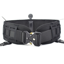 Cinturón táctico militar Airsoft para hombre, cinturón de cintura Molle acolchado, liberación rápida, combate, ejército, caza