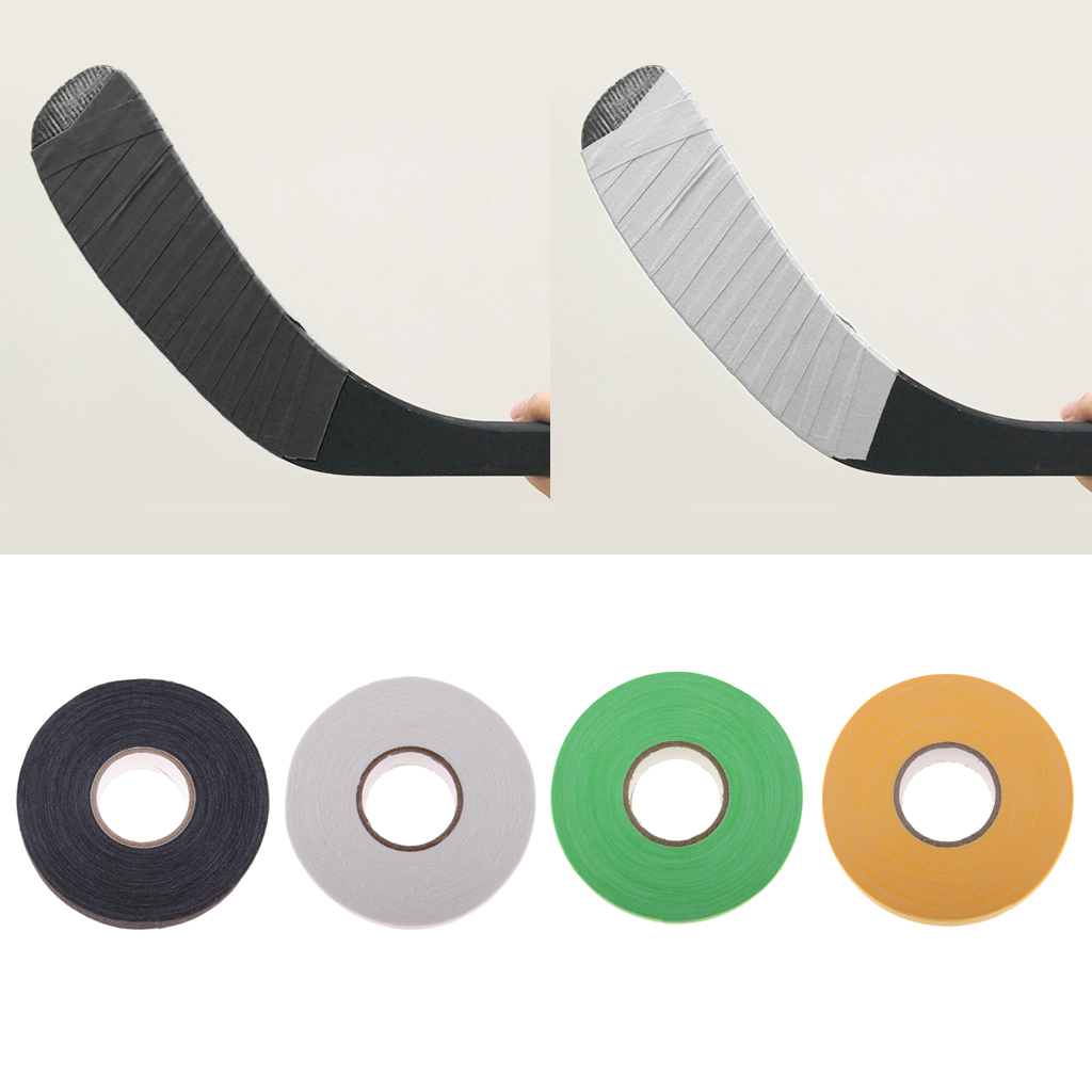 4x Ice Hockey Tape Cotton Cloth Wrap Handles Tennis Grip White Black Green 1 Inch X 25 Yards