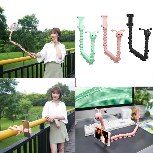 Flexible Pastable Selfie Stick Monopod Octopus Tripod Holder for GoPro IPhone Camera Phone Car Bicycle Universal