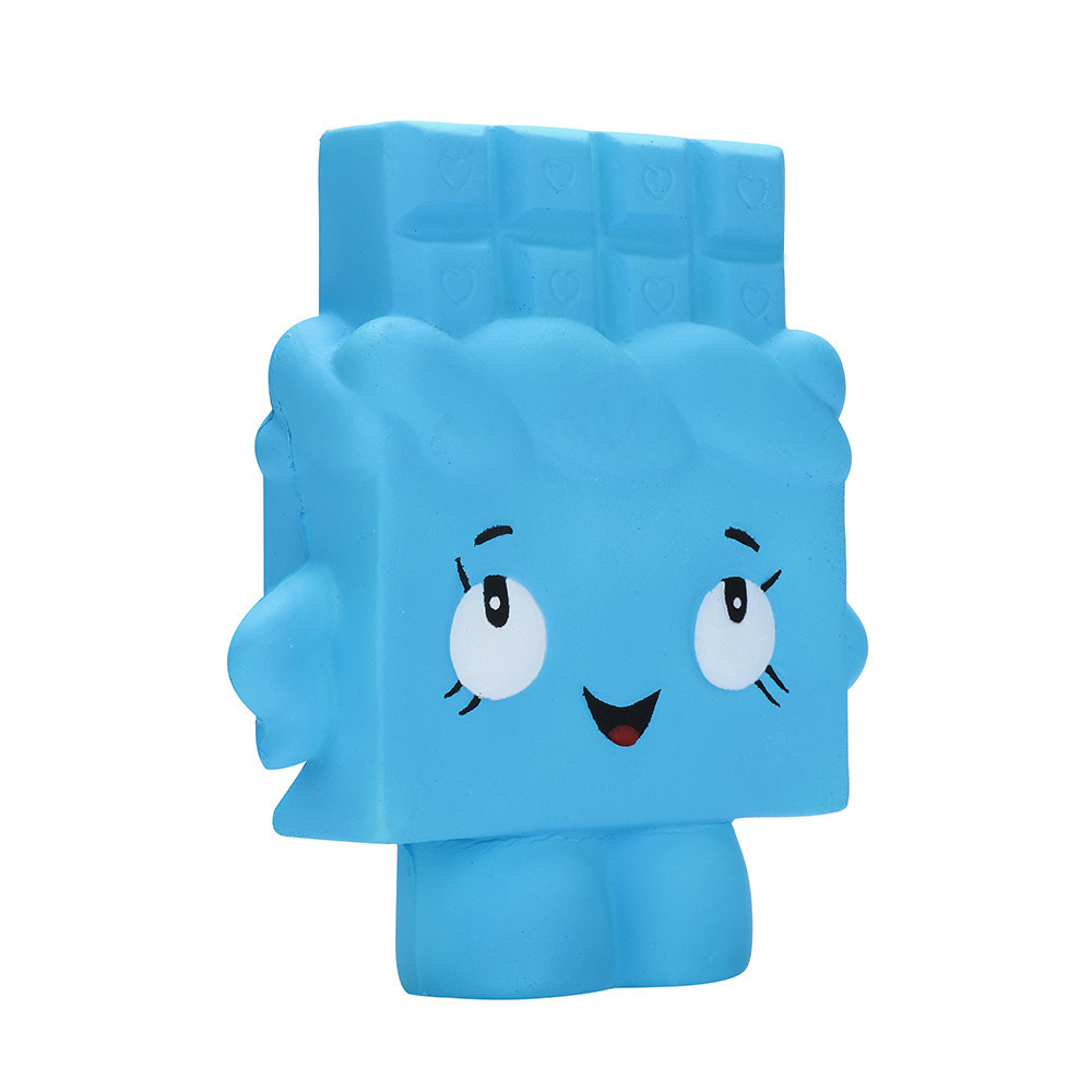 Blue Chocolate Decompression Stress Soft Squeeze Fun Toys Antistress Gadgets Stress Relief Toy Girly Heart Pinch Fun #A