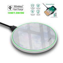 Беспроводное зарядное устройство FDGAO/металлическое Беспроводное зарядное устройство 10 Вт зеркальное Ультра тонкое Беспроводное зарядное устройство для мобильных телефонов QI