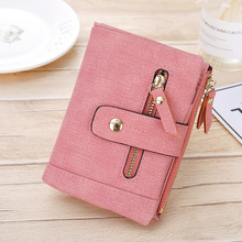 Fashion Short Women Wallets and Purses Coin Pocket Zipper Clutch Bag Money Clips Female 9 Card Holders Purse