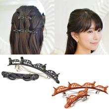 Модные заколки для волос, экологические пластиковые шпильки для волос, однотонные черные прозрачные коричневые заколки для волос