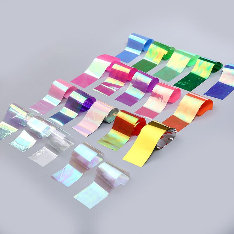 1 Set Shiny Aurora AB Effect Reflective Mirror Paper Epoxy Resin Jewelry Fillers