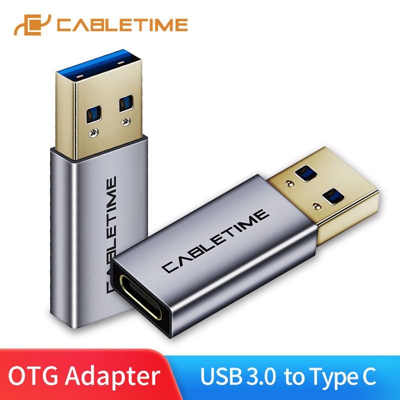 CABLETIME Type C Adapter USB C To USB3.0 A Male OTG Charging & Sync Converter For Mobile Phones Laptops Tablets C012
