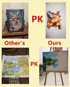Image 5 - תמונה אישית ציור על ידי מספר DIY שמן ציור תמונת ציור בד צביעה על ידי מספרי משפחה תמונות