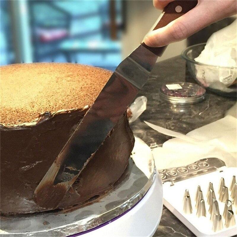 Sugarcraft dough cutter steel SCRAPER Smooth Ganache icing cake decorating