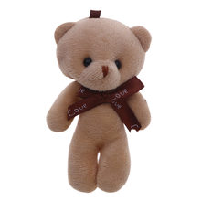 1Pcs Simplicity Series Cute Plush Bear Keyboard Toys Cartoon Creative Girl Student Small Bag Attachment for Children Gifts(China)