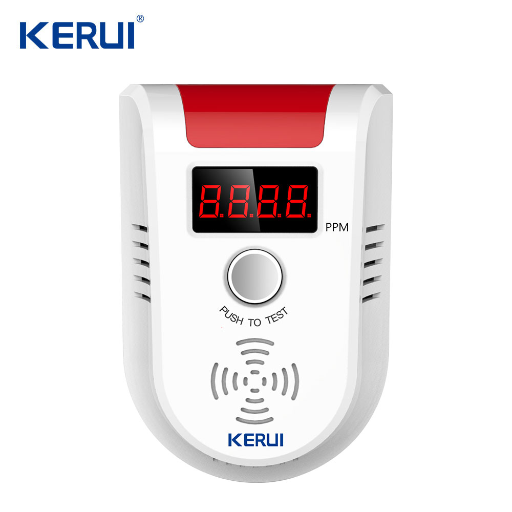 Wireless Digital LED Display Combustible Gas Sensor Gas Detector Leak Alarm For GSM Home Security Alarm System