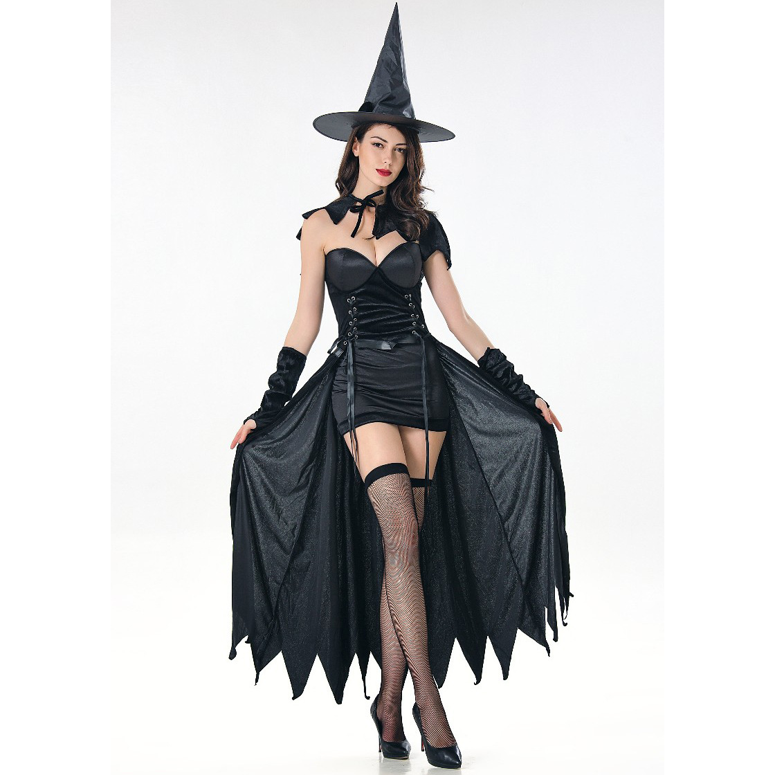 Dancing Stage <font><b>Costumes</b></font> <font><b>Halloween</b></font> <font><b>Sexy</b></font> Witch <font><b>Costume</b></font> Role Play Makeup Ball Witch Wizard <font><b>Costume</b></font> Sportswear image