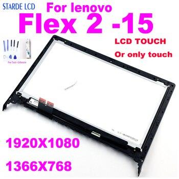 15 6 inch led lcd screen for dell precision 7510 7520 3510 0r52wf wuxga fhd 1920 1080 ips display non touch 15.6 for lenovo flex 2-15 flex 2 15 LCD Display Touch Screen Digitizer Assembly with Frame Flex2-15 FHD 1920*1080 HD 1366*768