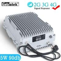 5W MGC Amplificador de Sinal 4G Ao Ar Livre 90db 2G 3G 4G Amplificador de Sinal 850 GSM 900 1800 2100mhz 37dbm Amplificador À Prova D 'Água para Grande Edifício