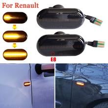 Для Renault Clio 1 2 KANGOO MEGANE ESPACE TWINGO Мастер светодиодный динамический боковой маркер индикатор сигнала светильник последовательного мигающий