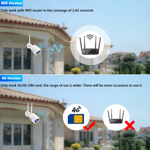 Image 4 - 4G سيم بطاقة IP كاميرا 1080P 5MP HD اللاسلكية واي فاي في الهواء الطلق الأمن كاميرا مصغرة CCTV المعادن P2P Onvif اتجاهين الصوت Camhi