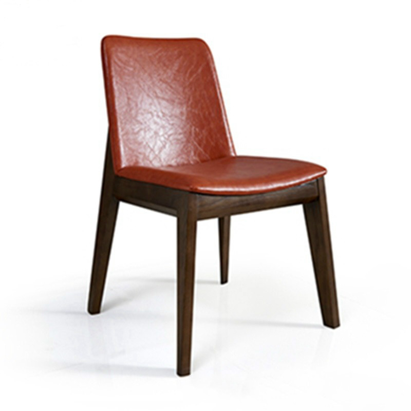 Nordic Solid Wood Dining Chair Home Adult Restaurant Chair Simple Modern Hotel Lounge Chair Fabric Leather Chair