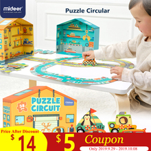 MiDeer Puzzles 38PCS Jigsaw Assembling Toys Kids Games Educational Construction Traffic Circle for 3-6Y Children