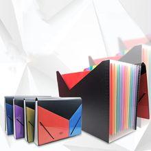 A4 Expanding Multi-layer File Folder Document Organizer 13 Pockets Accordion Bag R9CB
