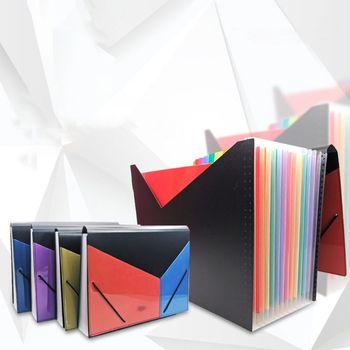 A4 rozszerzenie wielowarstwowa Folder Organizer do dokumentów 13 kieszenie akordeon torba R9CB tanie i dobre opinie OOTDTY Plik skrzynka Portfel app 33x24 5cm 12 99x9 65in Z tworzywa sztucznego R9CB5AC1103216-BPL