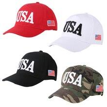 Baseball Cap Snapback USA Letter Embroidery American FlagsCasual Sun Golf HatsAdjustable Trucker HatBoneWholesale Sports