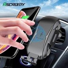 Wireless Caricabatteria Da Auto Supporto Del Telefono Qi Sensore di Induzione Intelligente di Ricarica Veloce Del Basamento di Montaggio Per Samsung S10 Nota 10 iPhone 11 pro Max