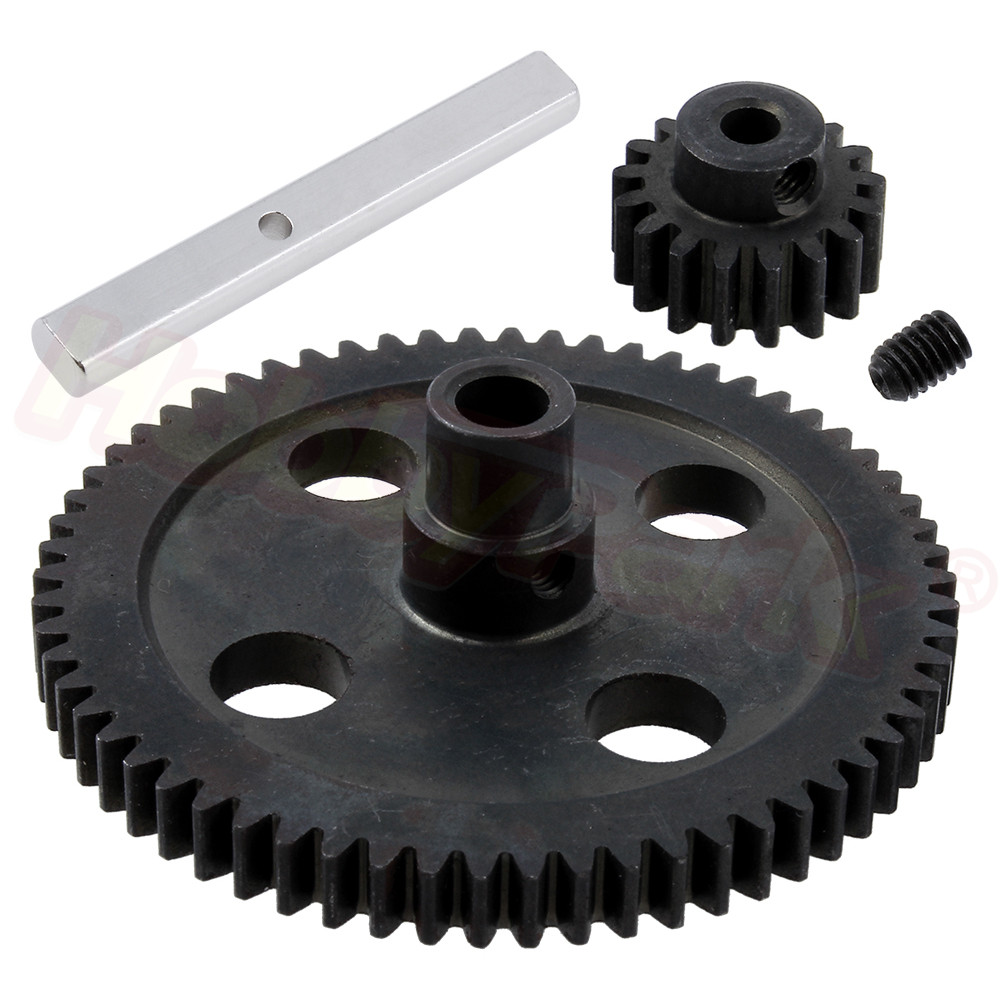 Steel Metal Spur Diff Gear 62T Reduction & 17T Pinion Motor Gear 0015 0088 For WLtoys 12428 12423 1/12 RC Car Crawler Part