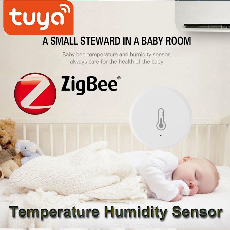 Tuay ZigBee Temperature Humidity Sensor Wireless APP Control Alarm System Devices For Amazon Alexa Google Assistant For Tuya App