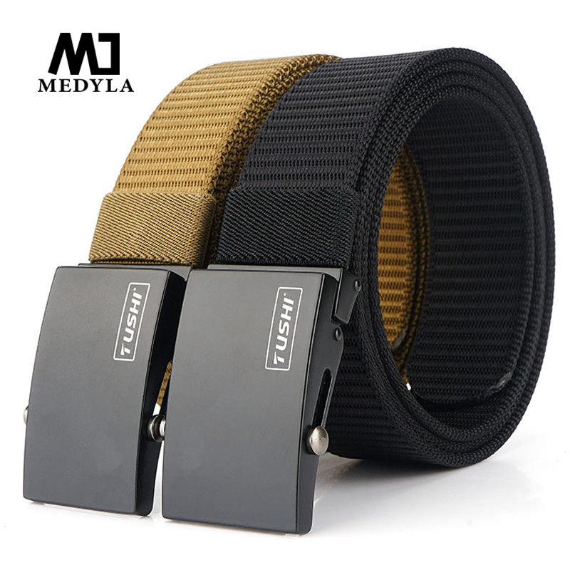 Medyla 2020 New Thickening Casual Wild Nylon Men's Belt Automatic Buckle Belt Youth Outdoor Activity Canvas Belt Dropshipping