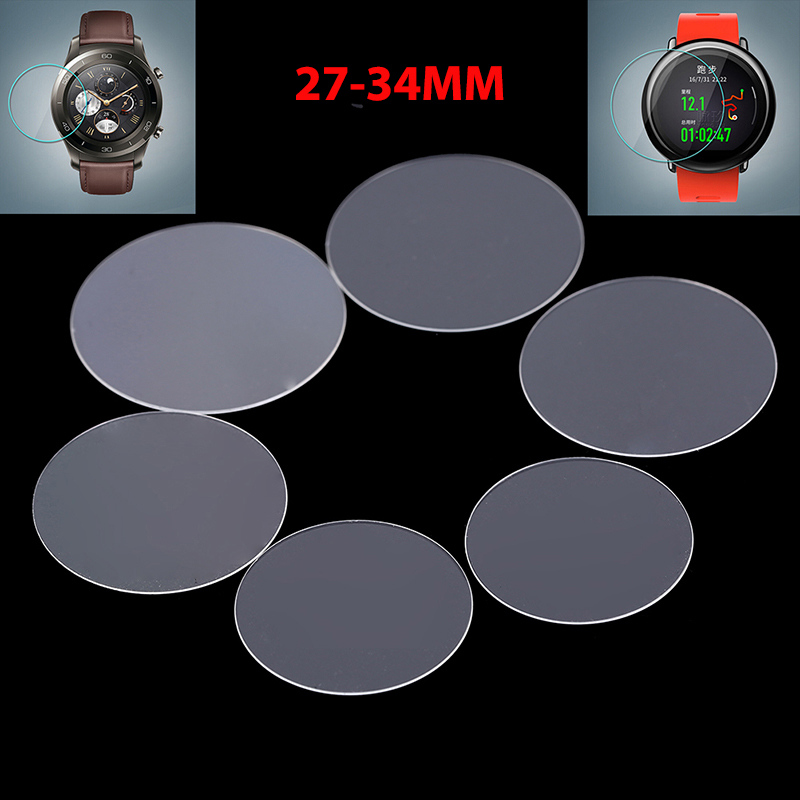 2Pack Universal Round Tempered Glass Protective Film Screen Protector Cover For Armani Moto Xiaomi Smart Watch 27-34mm