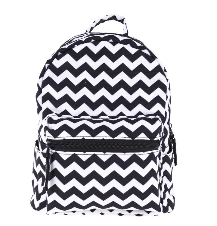 Mini backpack with black and white stripes backpacks children's backpacks