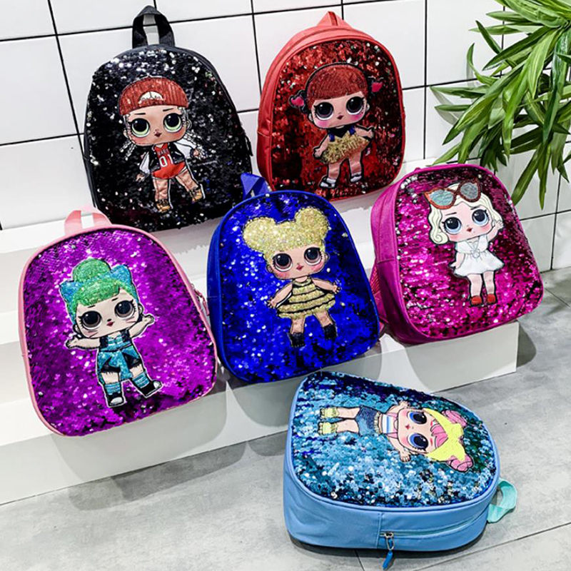 Kids Cartoon Backpack Sequin Student Bag Childrens Toddlers Character Backpack Rucksack Lunch Pack Hot New Cute Lovely Gifts