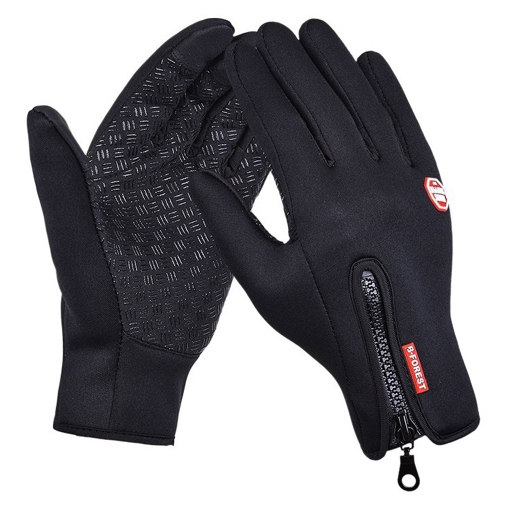 Mens Womens Spring Winter Waterproof Touch Screen Plus Velvet Riding Warm Gloves Windproof Fashion Outdoor Non-Slip Ski Gloves
