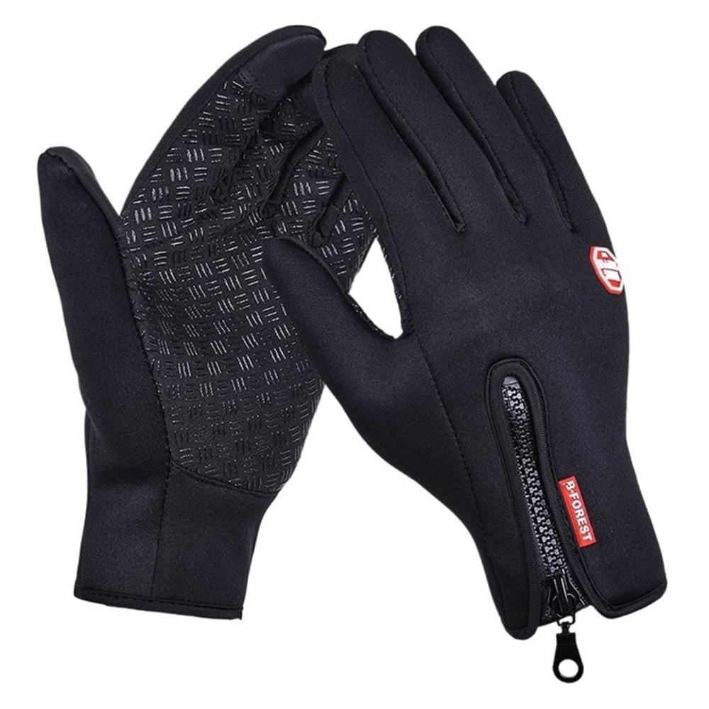 Mens Womens Spring Winter Waterproof Touch Screen Plus Velvet Riding Warm Gloves Windproof Fashion Outdoor Non-Slip Ski Gloves