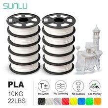 SUNLU 1.75 مللي متر PLA خيوط للطابعة ثلاثية الأبعاد البلاستيك PLA ثلاثية الأبعاد خيوط الأبعاد دقة الأبعاد +/-0.02 مللي متر 10 لفات/set