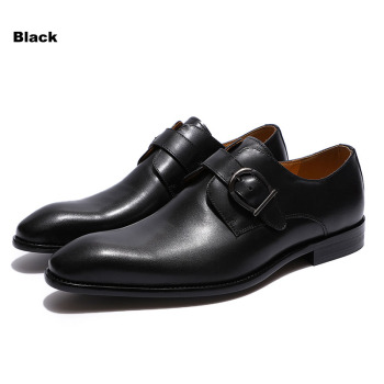 Black Single Monk Strap