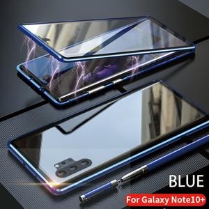 Image 5 - Dành Cho Samsung Galaxy Samsung Galaxy Note 10 Plus Pro Ốp Lưng Mặt Trước Và Mặt Sau Từ Kính Cường Lực 2 Mặt Kính Kim Loại Nhôm Bảo Vệ bao Da
