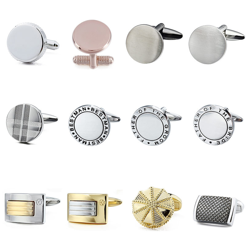 HAWSON High Quality Metal Cufflinks For Men's Shirt Business  Cufflinks Jewelry Without Box