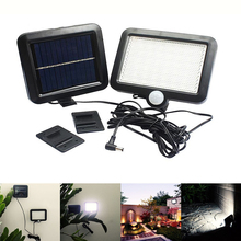 Solar led Light Outdoor Powered Garden Lawn PIR Motion Sensor Wall Lamp Waterproof Infrared Chandelier
