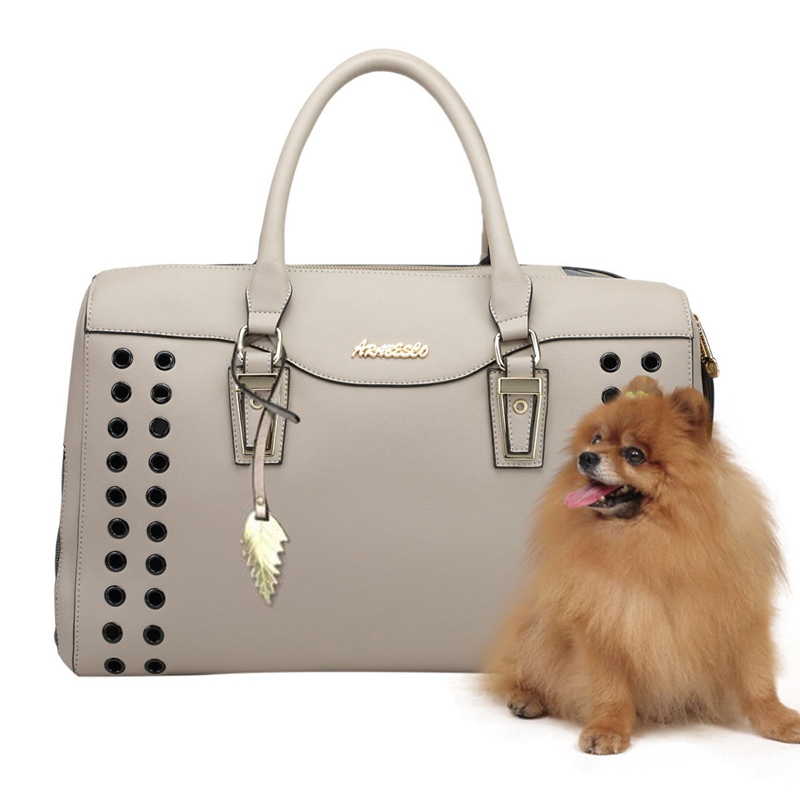Portable Pet Travel Handbag Small Dog Carrier Summer Breathable Dog Handbag Outdoor Traveling Portable Carrier Bag