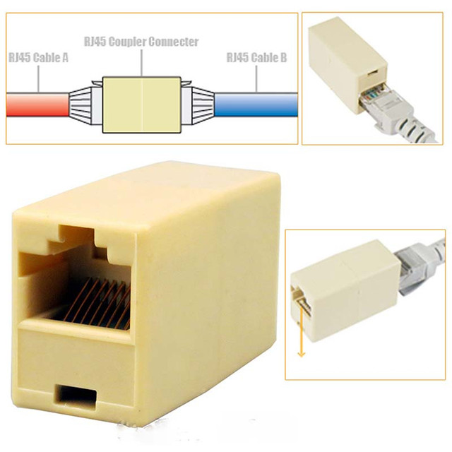 10Pcs RJ 45 소켓 RJ45 분배기 커넥터 CAT5 CAT6 LAN 이더넷 분배기 어댑터 네트워크 모듈 형 플러그 PC Lan 케이블 결합 자
