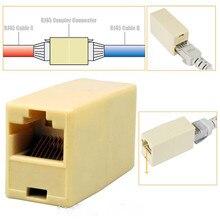 10Pcs RJ 45 ซ็อกเก็ต RJ45 Splitter Connector CAT5 CAT6 LAN Ethernet Splitter อะแดปเตอร์เครือข่าย Modular Plug สำหรับ PC สาย LAN ช่างไม้