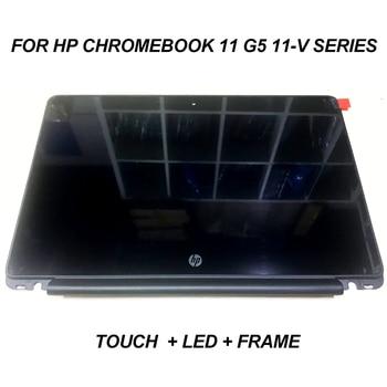 """For HP Chromebook 11-V020WM 11-V025WM 11-V020NR  11.6"""" HD LCD LED Touch Screen Assembly Display+Bezel Frame laptop"""