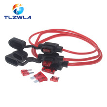1Set Standard/Mini/Micro Car Waterproof Fuse Box Blade Type In Line Fuse Holder Power Socket 18/16/14/12/10AWG 5A10A20A30A40A50A