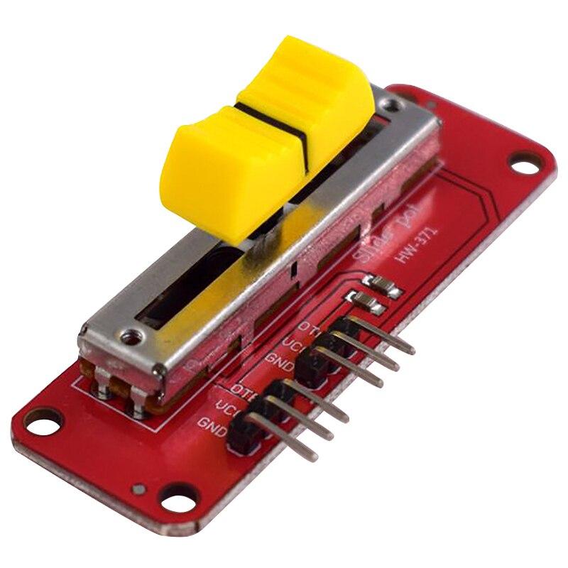 Мини скользящий потенциометр 10KΩ Линейный модуль двойной выход для Mcu Arduino Arm Avr электронный блок для одного микросхемы мини модуль