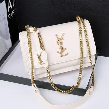 Ladies Shoulder Bag  New Fashion PU Messenger Metal Handle Hand Designer