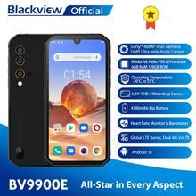 Blackview BV9900E Helio P90 wytrzymały smartfon 6GB + 128GB IP68 wodoodporny 4380mAh 48MP aparat NFC Android 10 telefon komórkowy tanie tanio Nie odpinany CN (pochodzenie) Rozpoznawania linii papilarnych Rozpoznawania twarzy Inne Adaptacyjne szybkie ładowanie Smartfony