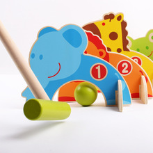 Настольный Гольф мультфильм животных ворота мяч Детская деревянная игрушка семья родитель и ребенок игра развивающие игрушки