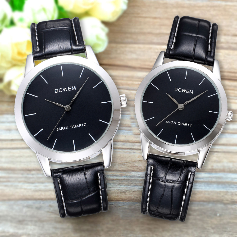 Shifenmei Fashion Couple Quartz Watch Leather Waterproof Business Casual Lovers Men Women Wristwatch Pair Watches For Couples
