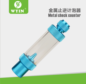ZRDR Check Valve-Regulator Diffuser Reactor Single-Head or Dual-Head Aquarium CO2 Bubble Counter Air Pump Accessories