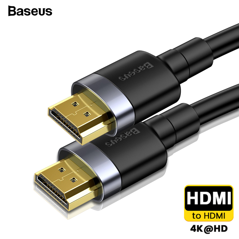 Baseus HDMI Cable 4K HDMI Male To HDMI 2.0 Cable Cord For PS4 Apple TV 4K Splitter Switch Box Extender 60Hz Video Cable HDMI 5M